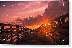 Pink Sky Sunset Acrylic Print