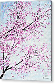 Pink Spring Acrylic Print by Kume Bryant