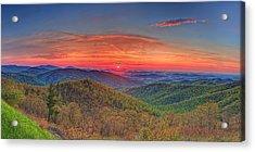 Pink Sunrise At Skyline Drive Acrylic Print