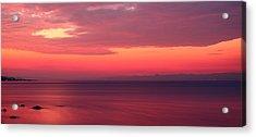 Pink Sunrise  Acrylic Print by Leyla Ismet
