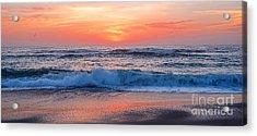 Pink Sunrise Panorama Acrylic Print by Kaye Menner