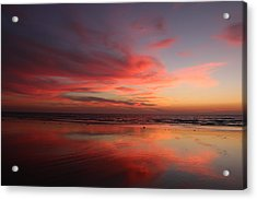 Ocean Sunset Reflected  Acrylic Print