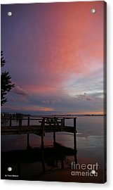 Pink Sunset Acrylic Print by Tannis  Baldwin