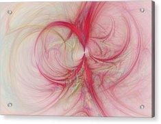Pink Swirls Acrylic Print