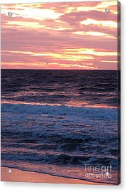 Pink Tangerine Acrylic Print by Melissa Stoudt