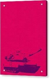 Acrylic Print featuring the mixed media Pink Tank by Michelle Dallocchio