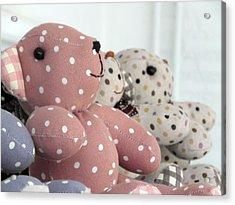 Pink Teddy Bear And Friends Acrylic Print