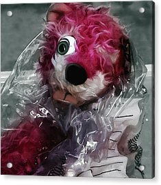 Pink Teddy Bear In Evidence Bag @ Tv Serie Breaking Bad Acrylic Print