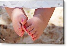 Pink Toes Acrylic Print