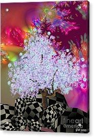 Pink Tree Acrylic Print by Susanne Baumann
