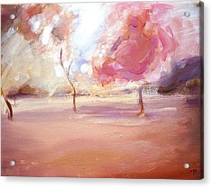 Pink Trees Acrylic Print by Tanya Byrd