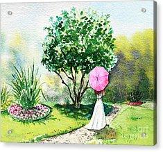 Pink Umbrella Acrylic Print