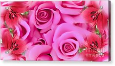 Acrylic Print featuring the painting Pink Upon Pink by Catherine Lott