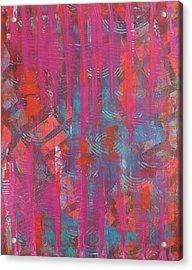Pink Veil Acrylic Print by Debra Jacobson