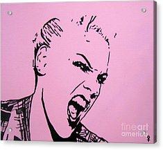 Pink Acrylic Print by Venus