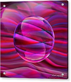 Pinking Sphere Acrylic Print by Robin Moline