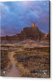 Pinnacle Path Acrylic Print by Rob Wilson