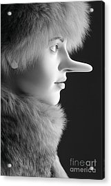 Pinocchios Daughter Acrylic Print by Sophie Vigneault