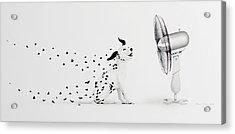 Pintas Al Aire Acrylic Print by Angel Ortiz