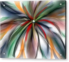 Pinwheel Abstract Acrylic Print by Ron Grafe