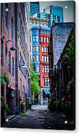 Pioneer Building Through The Alley Acrylic Print by Brian Xavier
