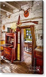 Pioneer Dining Room Acrylic Print by Inge Johnsson