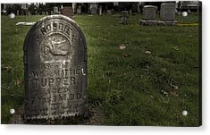 Pioneer Grave Acrylic Print by Jean Noren