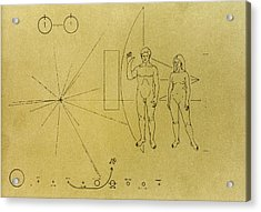 Pioneer Plaque, 1972 Acrylic Print by Granger