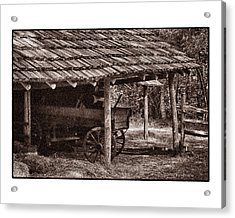 Pioneer Shed Calotype Acrylic Print