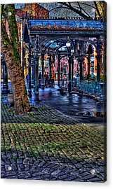 Pioneer Square In Seattle Acrylic Print by David Patterson