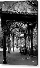 Pioneer Square Pergola Acrylic Print by David Patterson