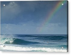 Pipe At The End Of The Rainbow Acrylic Print by Sean Davey