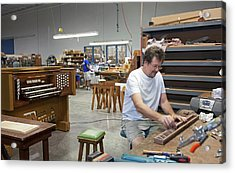 Pipe Organ Factory Acrylic Print by Jim West