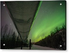 Pipeline And Aurora Acrylic Print