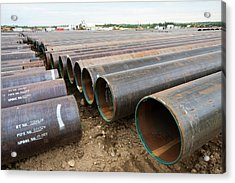 Pipeline Construction Work Acrylic Print