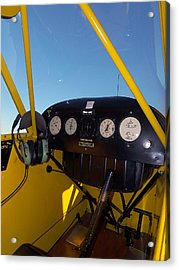 Piper Cub Dash Panel Acrylic Print