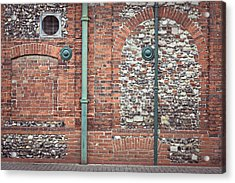 Pipes And Wall Acrylic Print by Tom Gowanlock