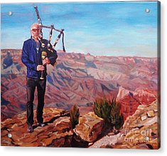 Piping At The Grand Canyon Acrylic Print by Janet McDonald