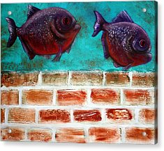 Piranha Acrylic Print by Laura Barbosa