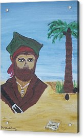 Acrylic Print featuring the painting Pirate Bust by Martin Blakeley
