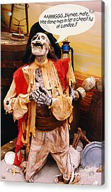 Acrylic Print featuring the photograph Pirate For Halloween by Gary Brandes