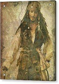 Pirate Johnny Depp - Steampunk Acrylic Print by Absinthe Art By Michelle LeAnn Scott