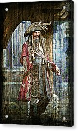 Pirate Keith Richards - Steampunk Acrylic Print by Absinthe Art By Michelle LeAnn Scott