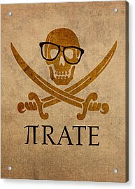 Pirate Math Nerd Humor Poster Art Acrylic Print by Design Turnpike