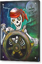 Pirate Moon Acrylic Print by Laura Barbosa