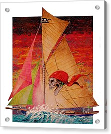 Acrylic Print featuring the painting Pirate Passage by David  Chapple