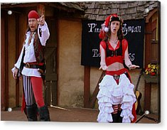 Pirate Shantyman And Bonnie Lass Acrylic Print