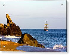 Acrylic Print featuring the photograph Pirate Ship In Cabo by Shane Bechler