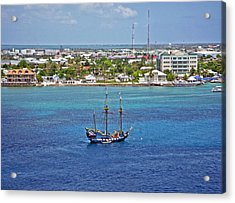 Pirate Ship In Cozumel Acrylic Print by Aimee L Maher Photography and Art Visit ALMGallerydotcom