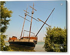 Pirate Ship Or Sailing Ship Acrylic Print by Sue Smith
